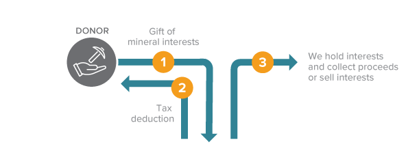 Gift of Mineral Interests Diagram